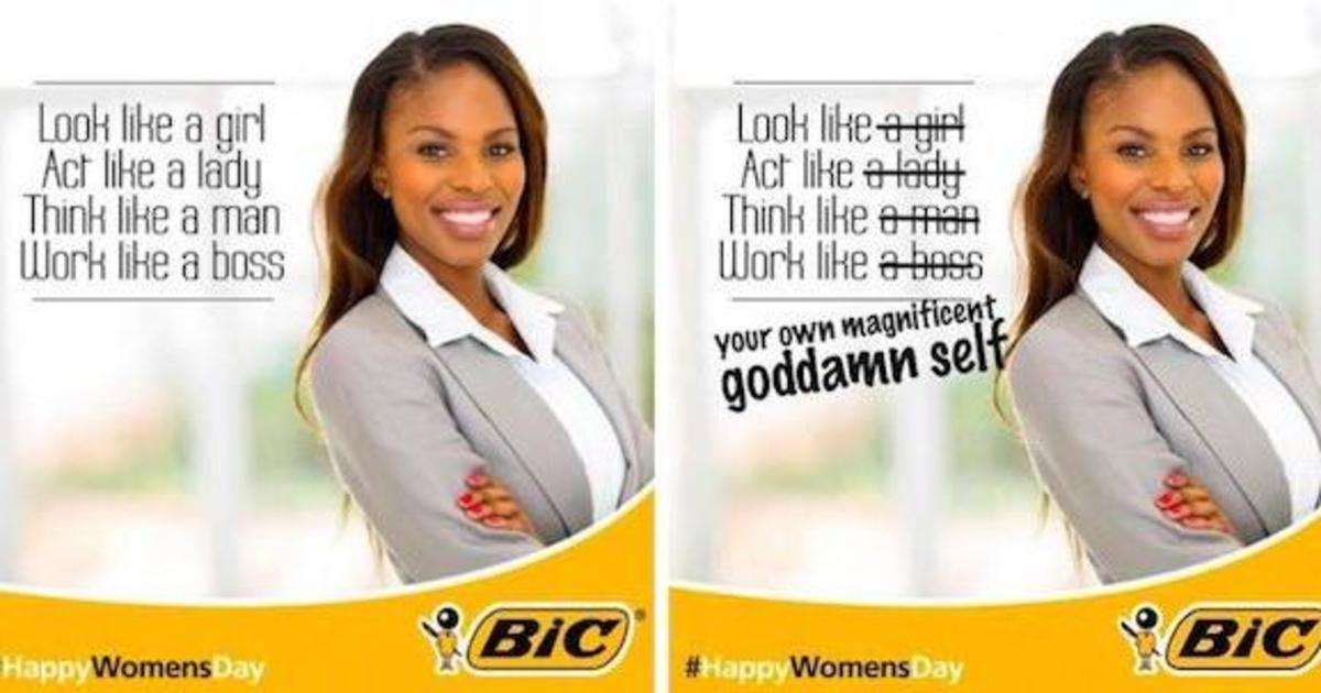 Пользователей возмутила сексистская реклама Bic.