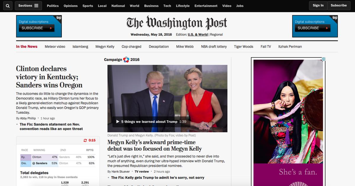 Как Washington Post поднял трафик на главную страницу своего сайта на 18%.