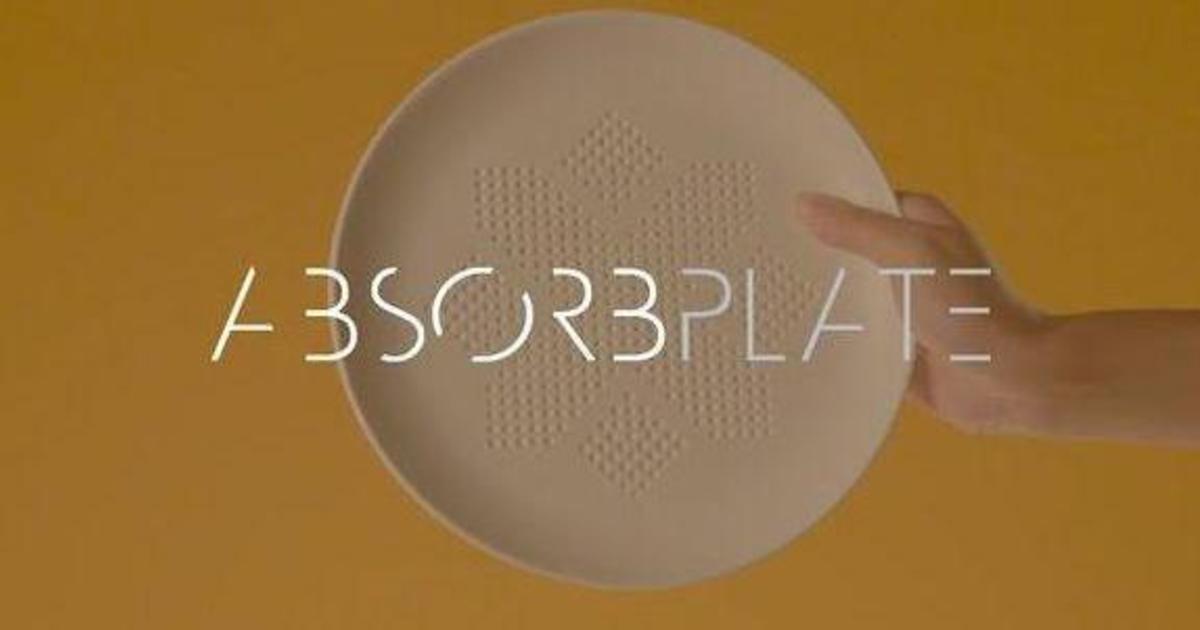 Креативщики создали тарелку, которая избавит от поедания лишних калорий.