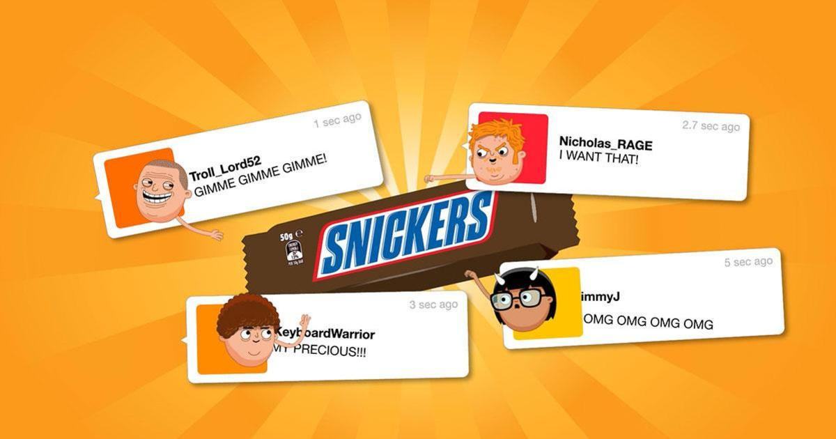 Snickers привязал цену на батончики к настроениям интернет-пользователей.