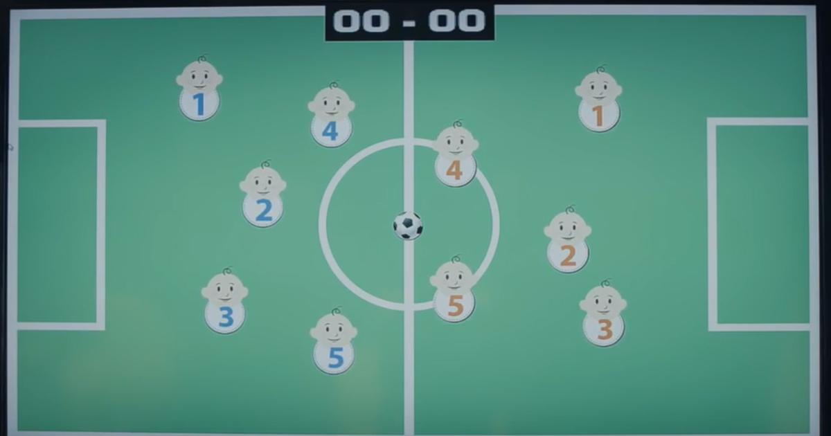 Футбольный клуб провел матч между младенцами в животах.