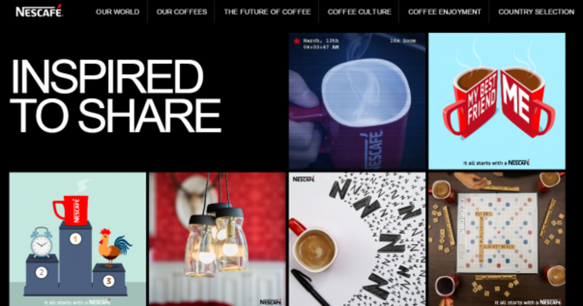 Nescafé потеряла веру в вебсайты и перешла на Tumblr.