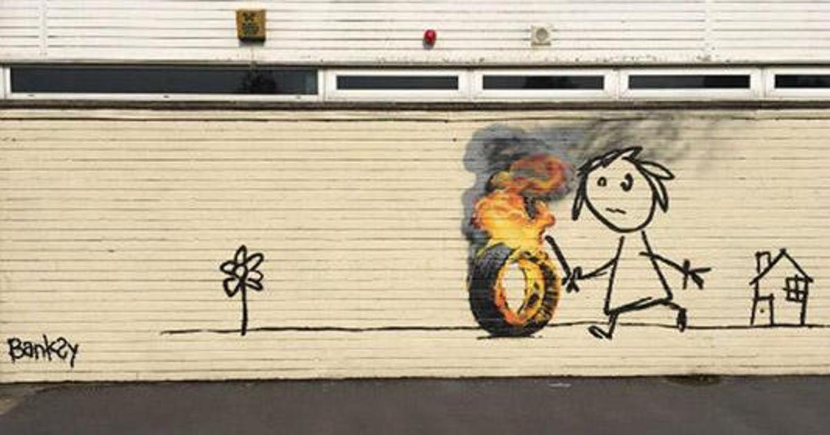 Художник граффити Бэнкси отблагодарил начальную школу своим рисунком.