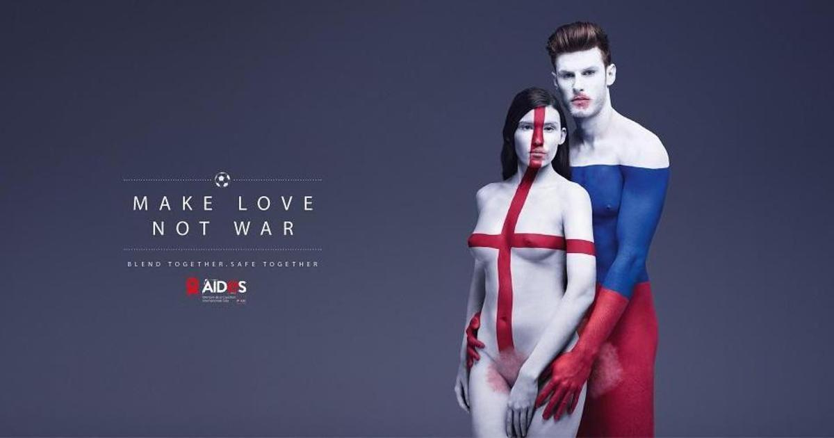 Провокационная реклама призвала участников Евро 2016 заняться любовью.