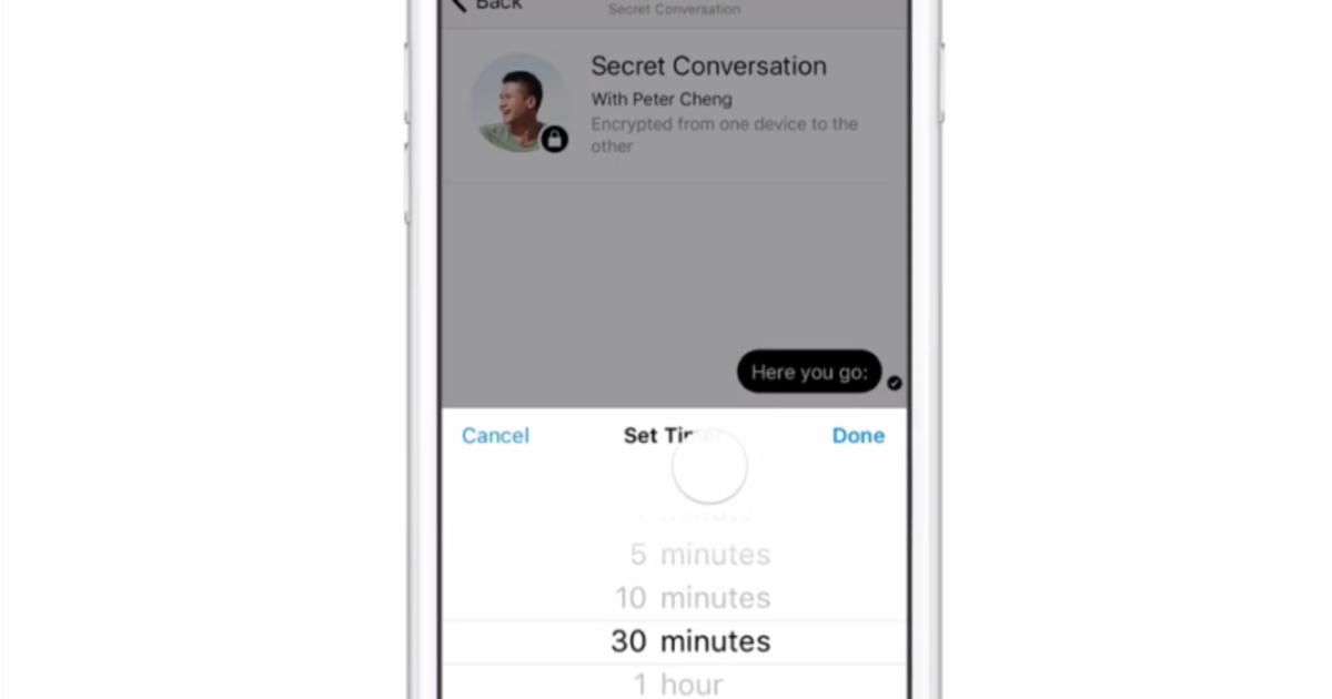 Facebook Messenger тестирует «секретные чаты».