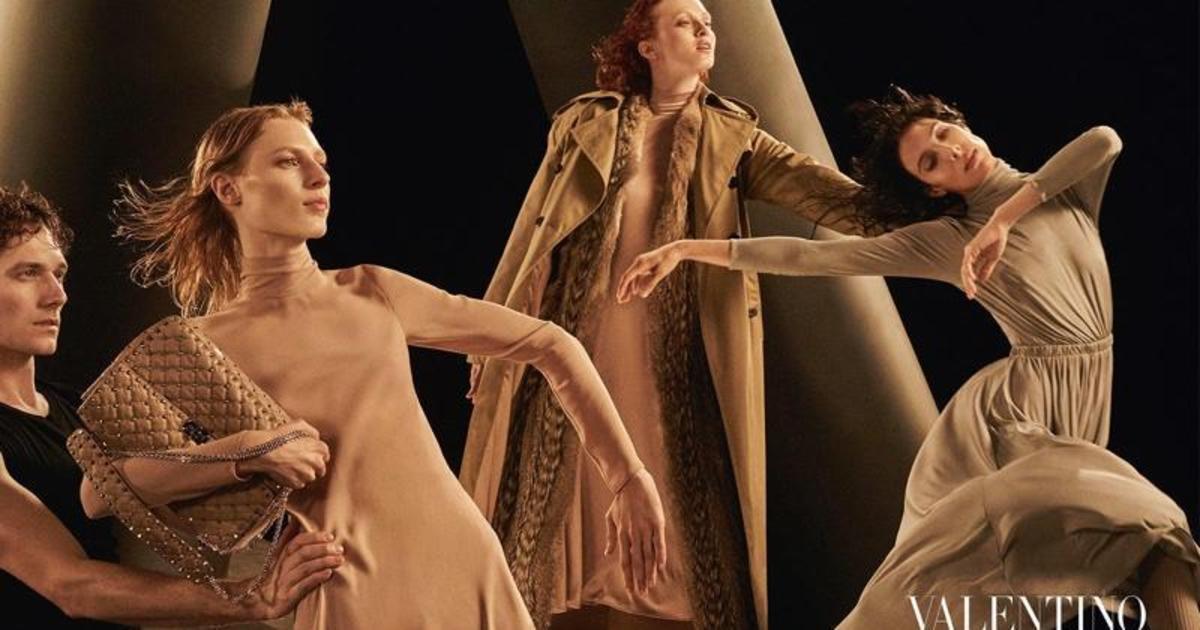 Valentino использовали искусство танца в осенней кампании.