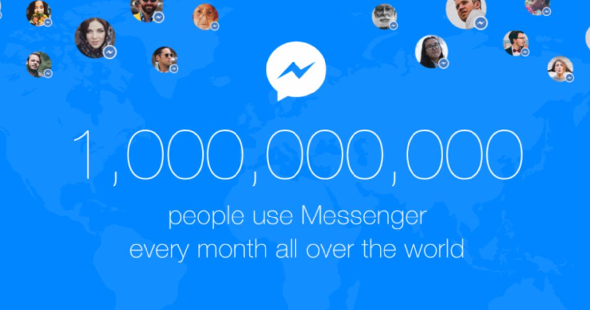 Facebook Messenger отметил 1 млрд. ежемесячных активных пользователей.