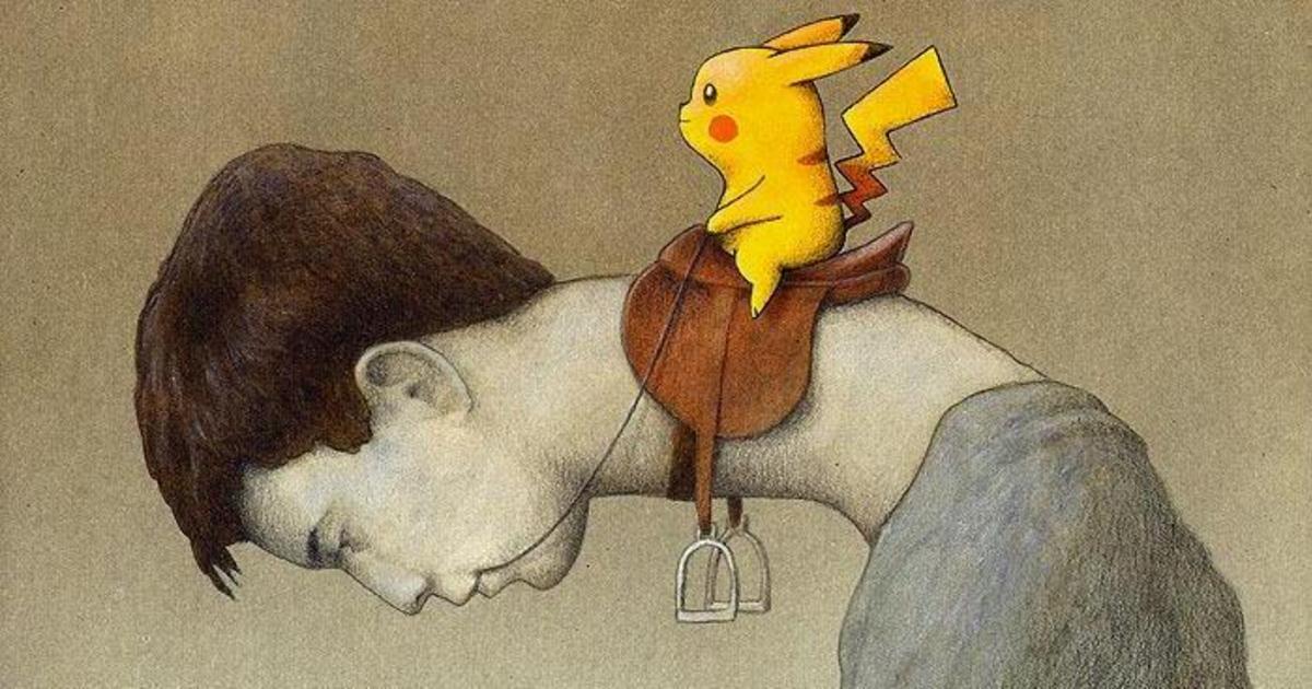 Pokémon GO глазами польского иллюстратора.