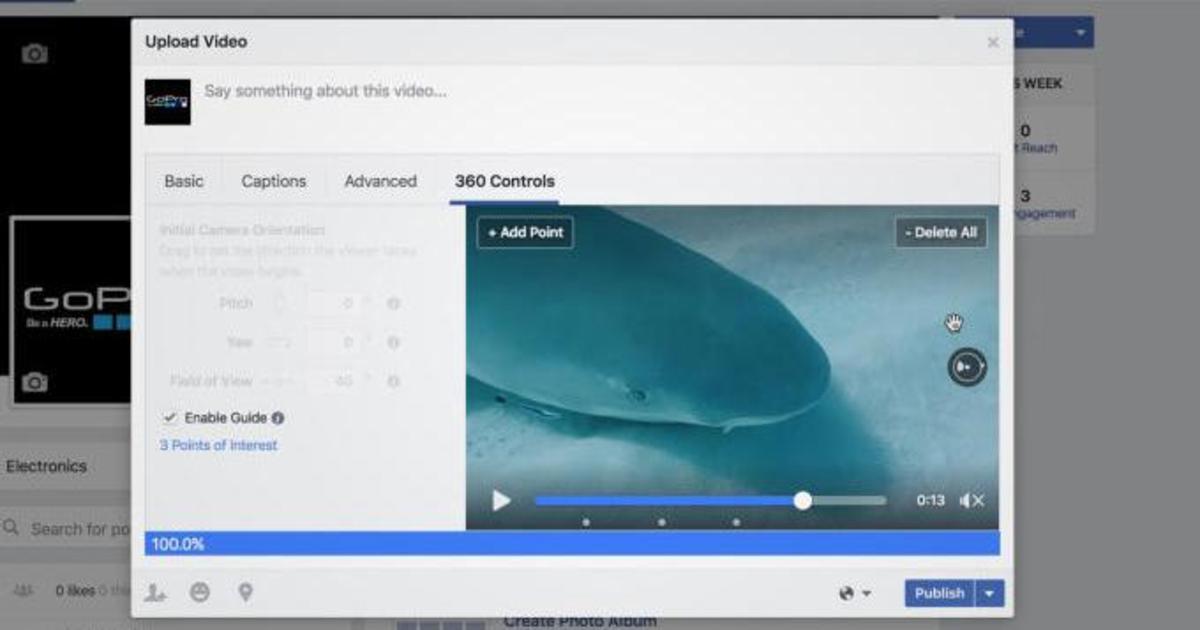 Facebook запустил новые инструменты для создателей сферических видео.