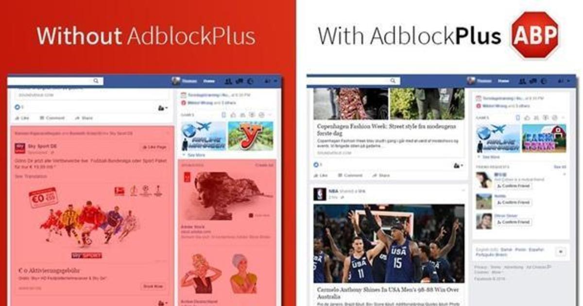 AdBlock «бросил вызов» Facebook.
