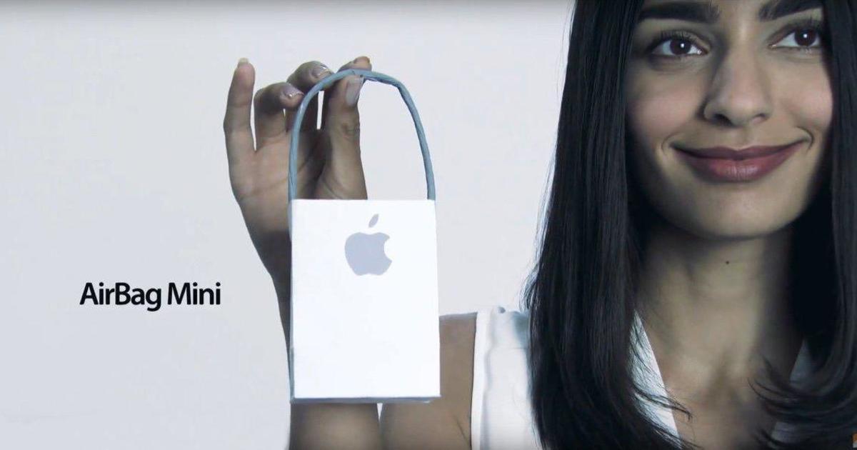 Запатентованный пакет Apple высмеяли в фейковой рекламе.