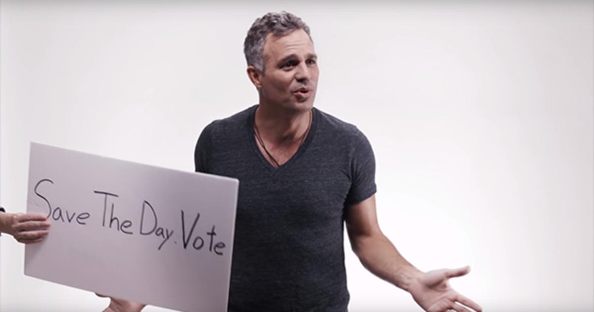 Марк Руффало пообещал раздеться, если американцы придут на выборы.