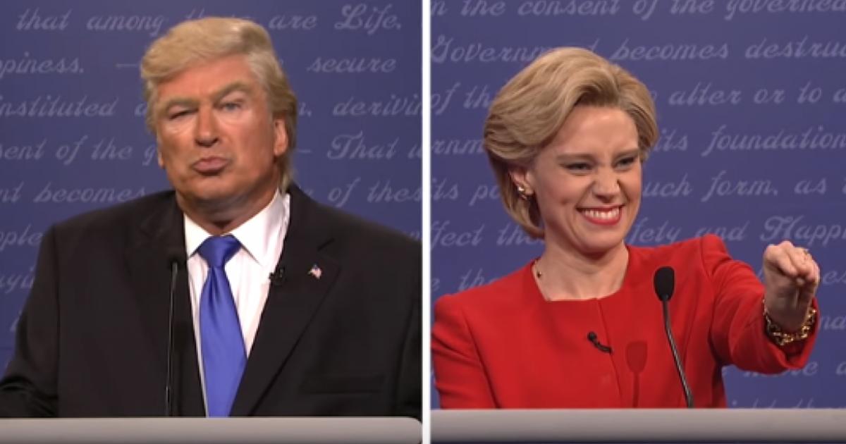 Пародия на дебаты Трампа и Клинтон взорвала интернет.