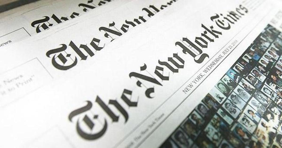 The New York Times заменил стандартные рекламные баннеры.