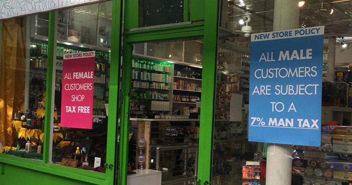 Нью-Йоркская аптека продвигает гендерное равенство 7% налогом для мужчин.