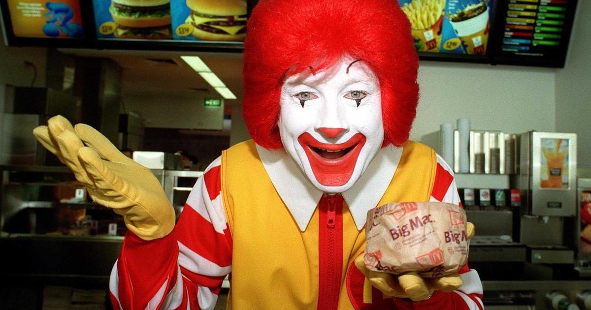 McDonald's избавится от Рональда Макдоналда из-за пугающих клоунов.