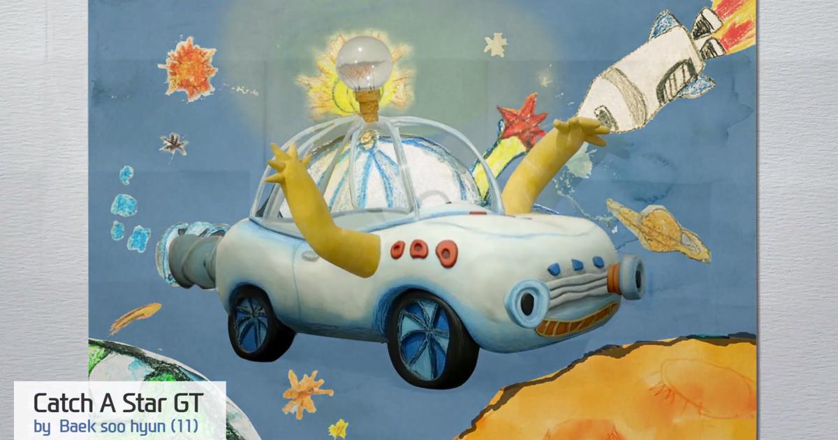 Hyundai превратил детские рисунки в реальные автомобили.