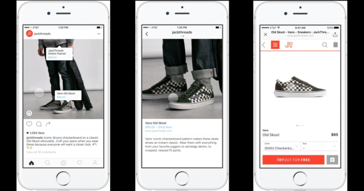 Instagram тестирует опцию покупки напрямую из фото.