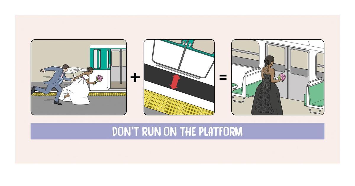 Комические постеры призвали задуматься о правилах безопасности в метро.