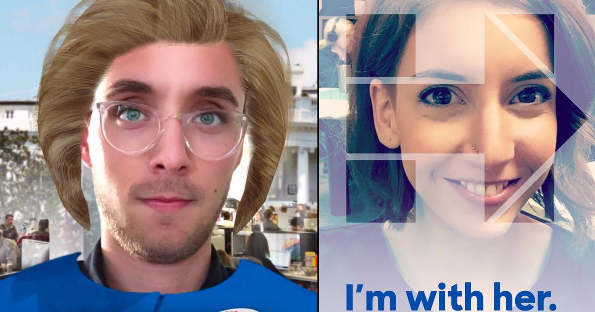 Snapchat превратил пользователей в Хиллари Клинтон.