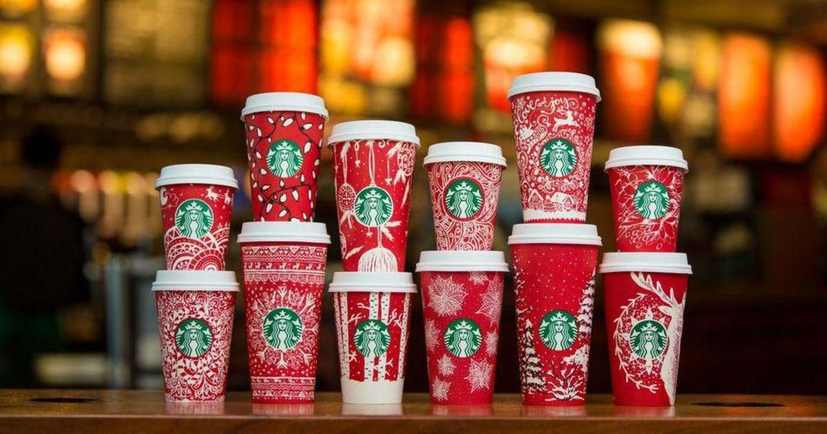 Рождественские чашки Starbucks украсили рисунки 13 женщин из 6 стран.