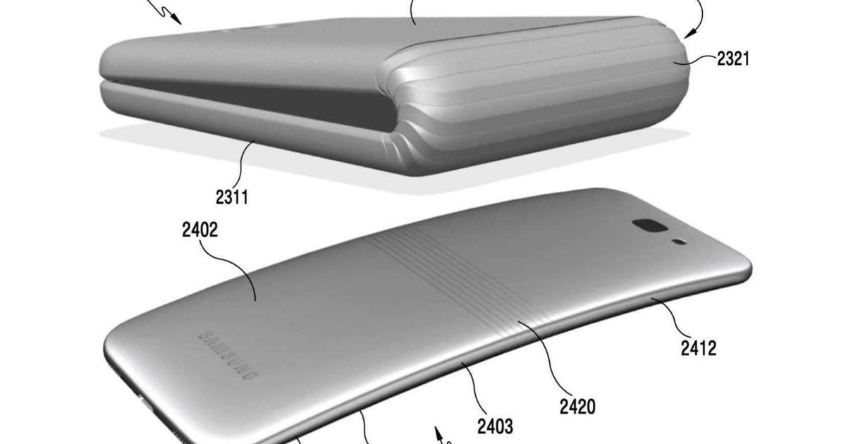 Привет из нулевых: Samsung патентует складывающийся смартфон.