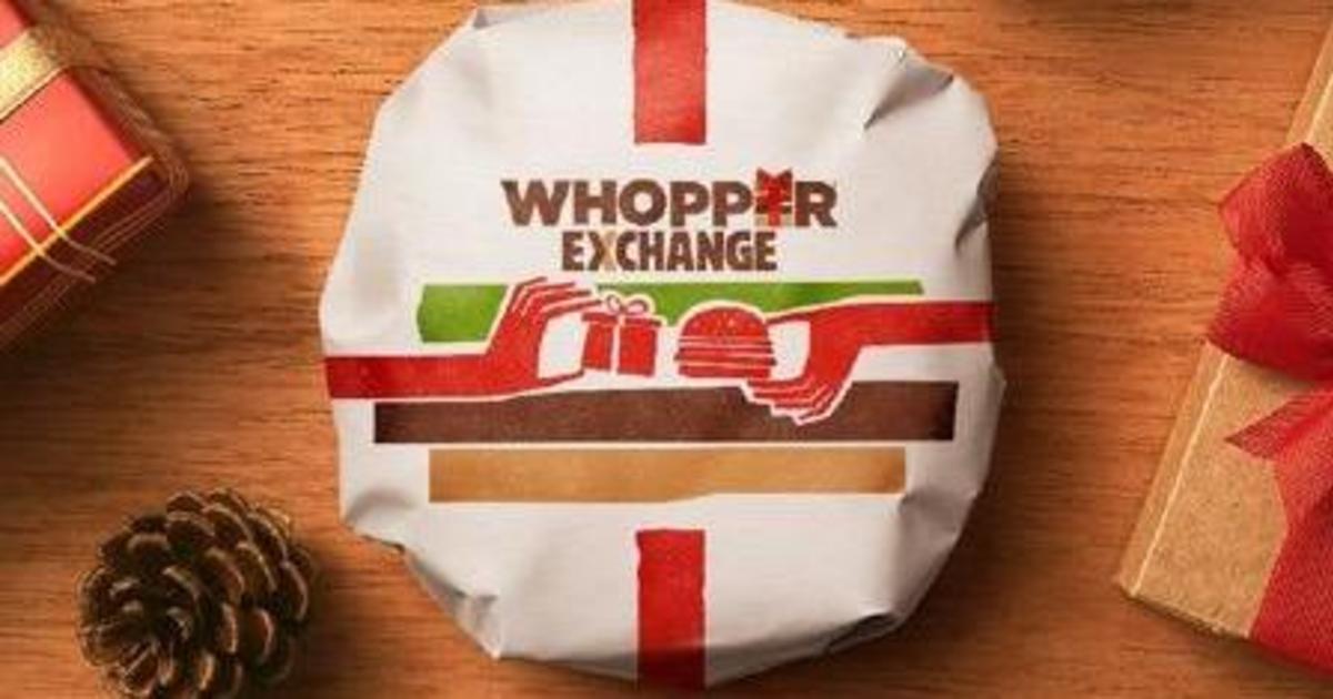 Burger King обменяет ненужный новогодний подарок на бургер.