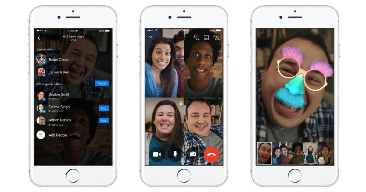 Facebook запустила групповые видеочаты для Messenger.