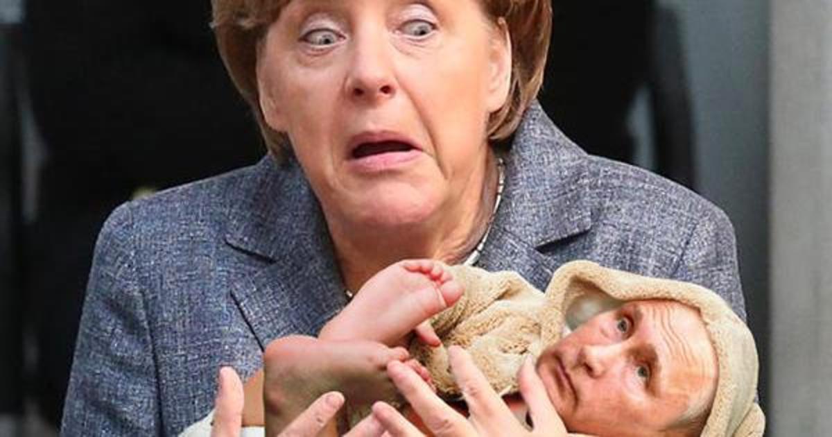 Расстроенная Ангела Меркель стала героиней фотошоп-битвы.