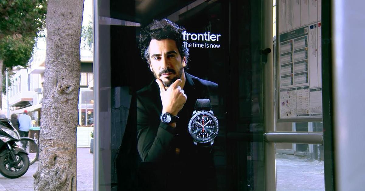 Интерактив в Outdoor: Samsung «оживил» биллборд с рекламой часов.