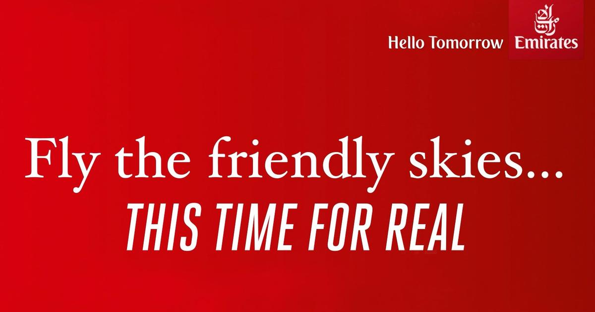 Emirates троллят United Airlines и их CEO в новой рекламе.