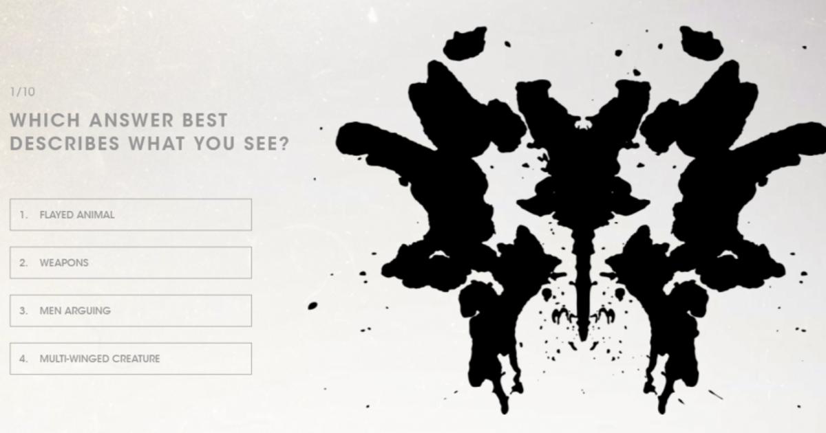 Разработчик игр провел на геймерах тест Роршаха.