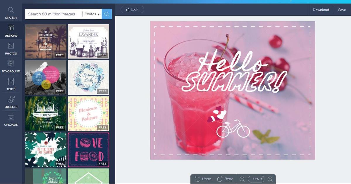 Для рекламных и промо-кампаний создали графический редактор онлайн.