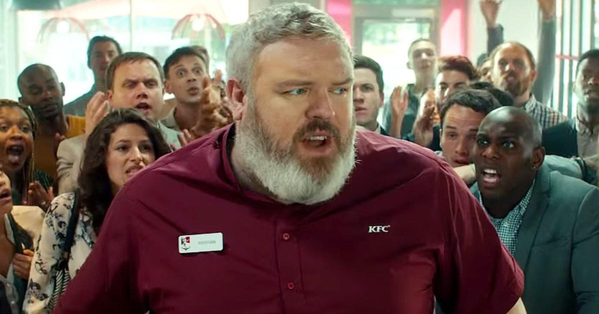 Видео дня: Ходор спародировал сцену из «Игры престолов» в рекламе KFC.