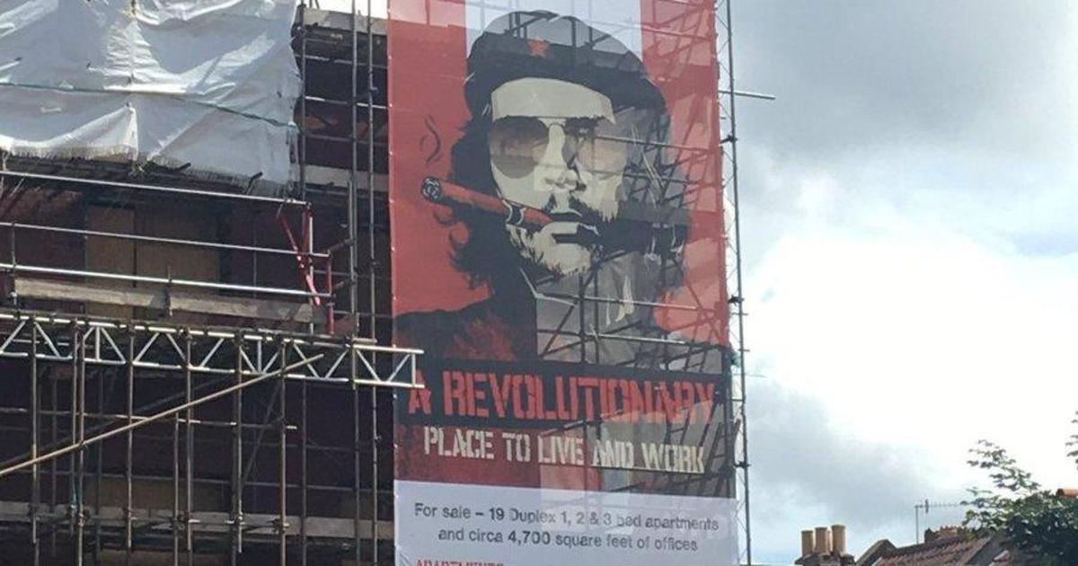 Че Гевара рекламирует «революционные» офисы и квартиры.