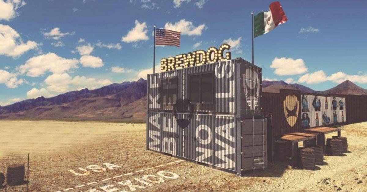 Пивоварня потроллила Трампа баром на месте стены с Мексикой.