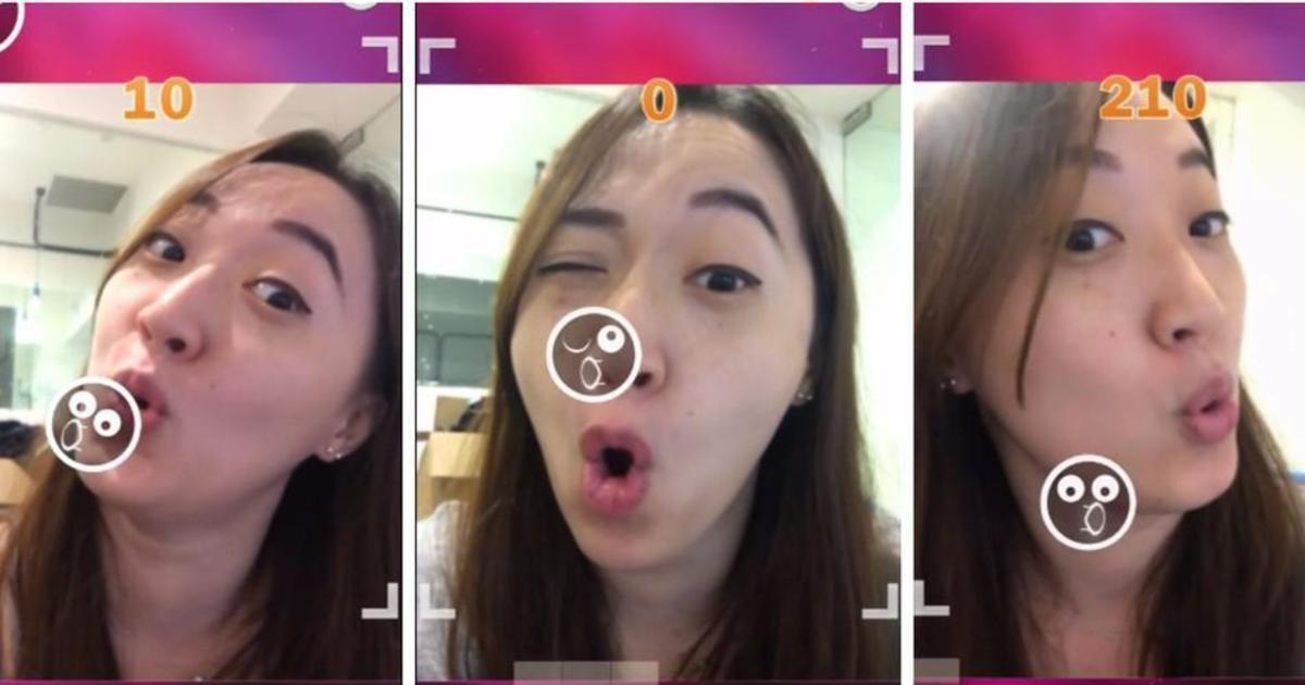 В Азии создали игру, в которой пользователи изображают эмодзи лицом.