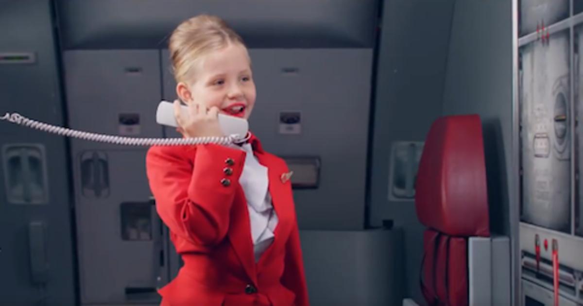 Маленькие члены экипажа Virgin Atlantic описали радости перелета с детьми.