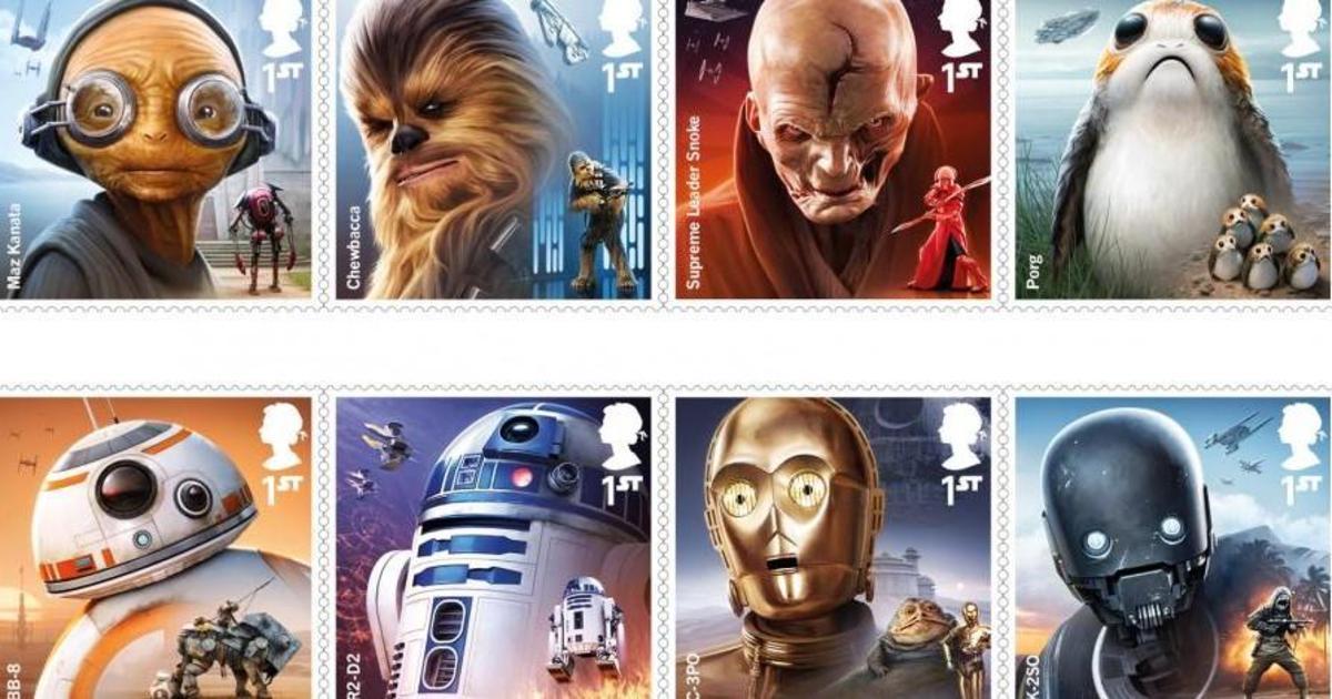 Royal Mail выпустила марки с героями «Звездных войн».