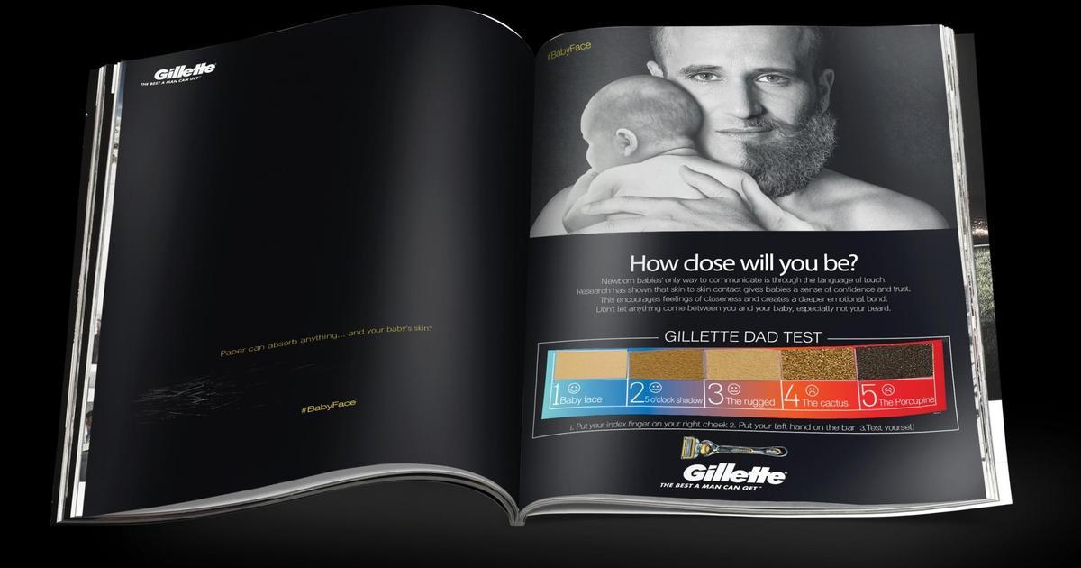 Gillette протестировал мужчин с помощью наждачной бумаги.