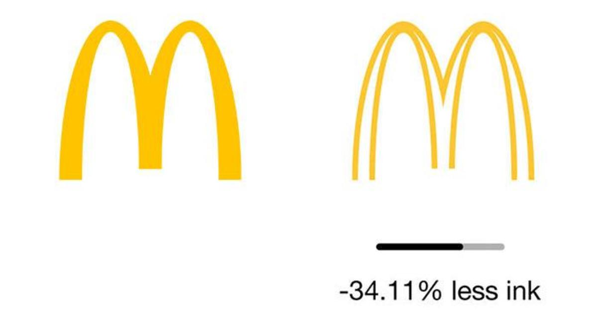 Без чернил: как выглядели бы экологичные лого известных брендов.