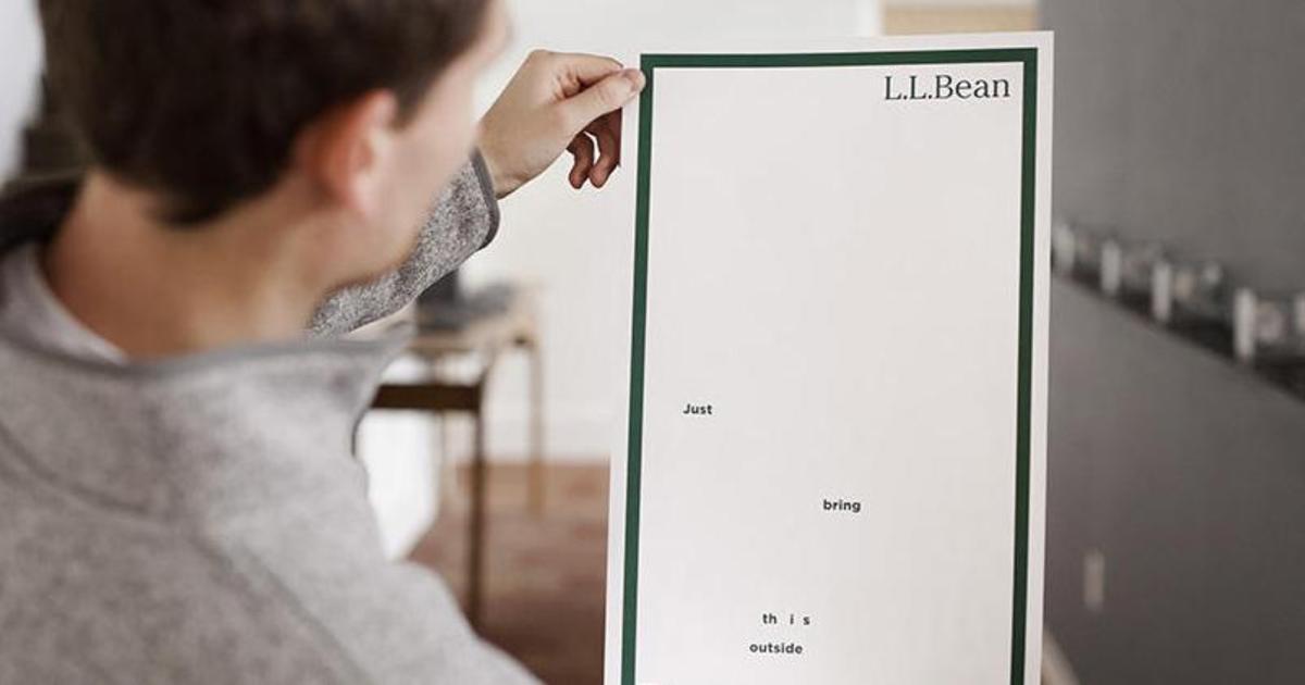 Fashion-бренд L.L.Bean создал невидимую печатную рекламу в газете.