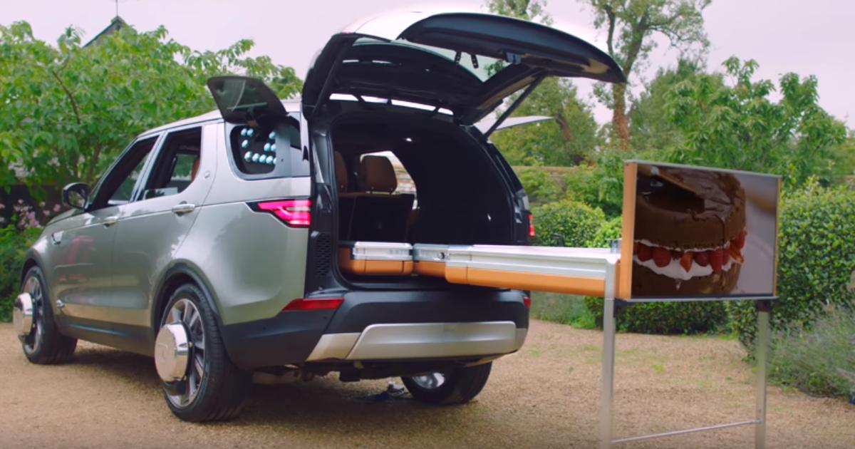 Для Джейми Оливера засунули кухню в Jaguar Land Rover.