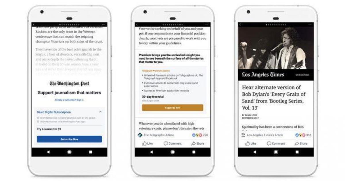 Facebook введет платный доступ к Instant Articles на мобильных девайсах.