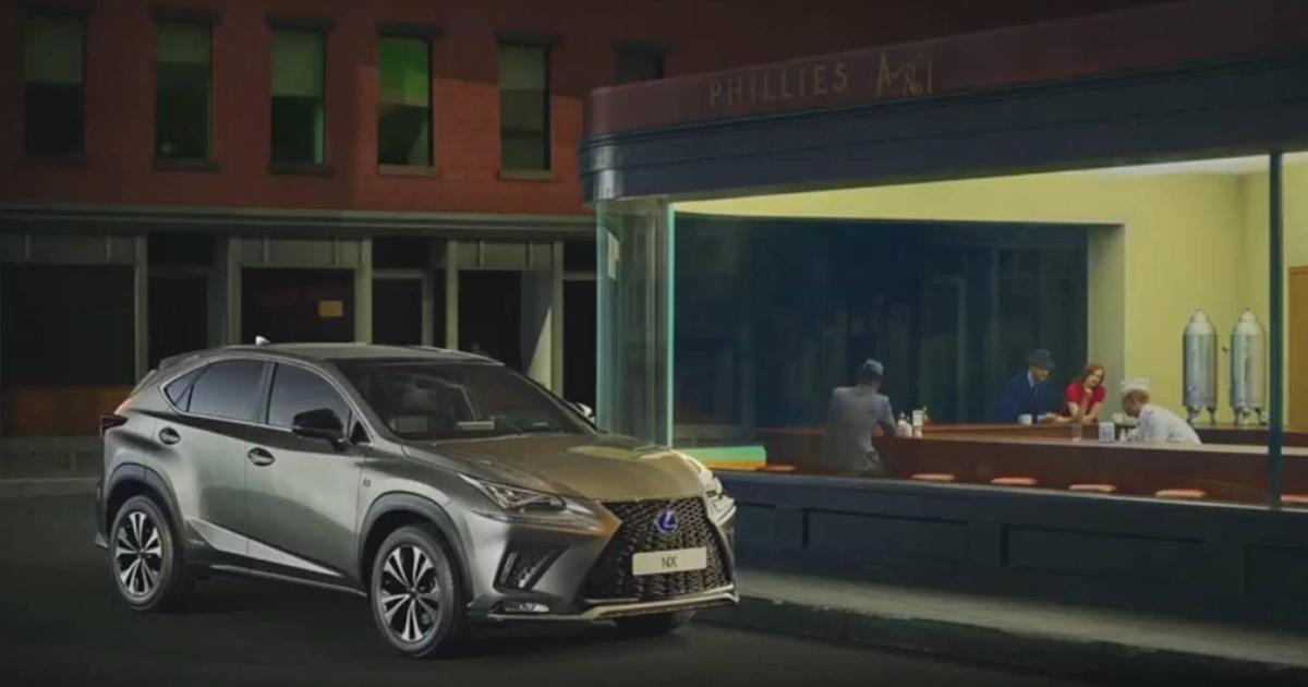 Lexus оживил полотна знаменитых художников, чтобы подчеркнуть новый дизайн.