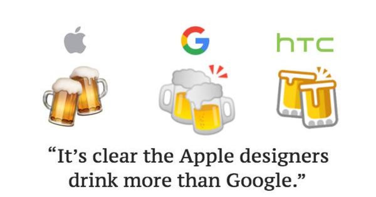 Google вновь уличили в неправильном эмодзи. На этот раз пива.
