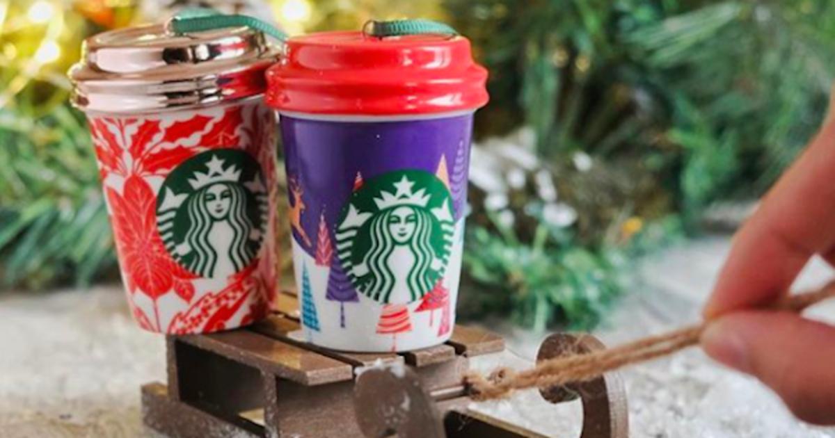 Starbucks показал, как превратить упаковку в елочные украшения.