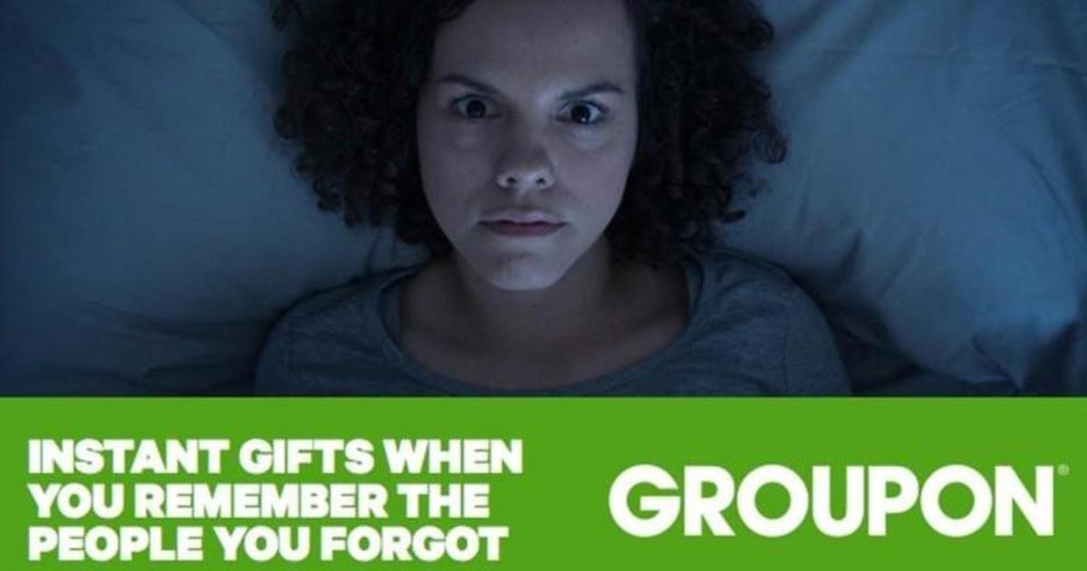 Праздничная «О, черт!»-кампания Groupon напомнила о покупке подарков.