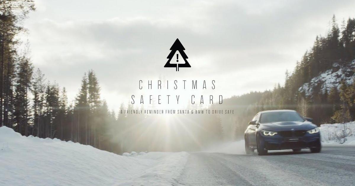 BMW создало рождественскую открытку для безопасной езды.