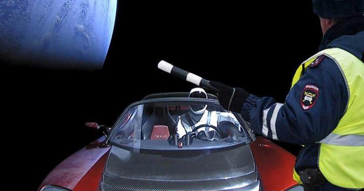 Tesla в космосе стала международным мемом.